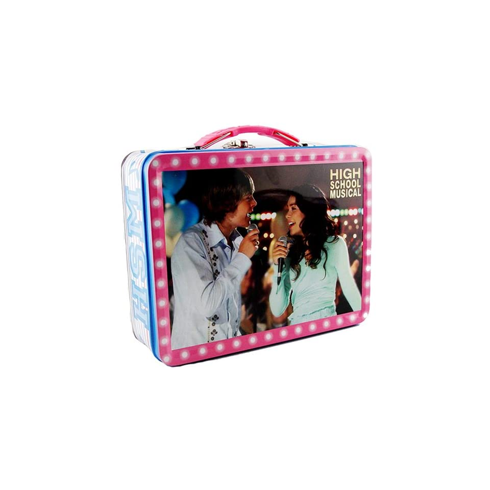 Pink & Blue High School Musical Tin Lunch Box,High school backpack Tin Purse also available