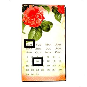 Forever Calendar Shabby Chic Design Made of Metal