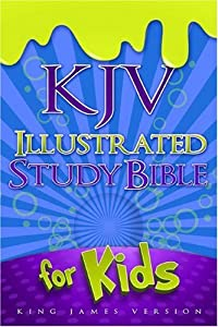 KJV Illustrated Study Bible for Kids, Blue LeatherTouch