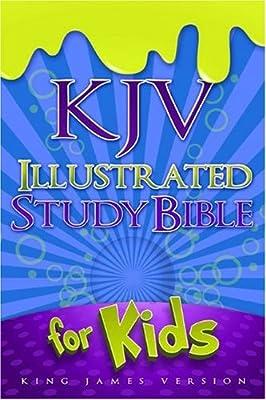 KJV Illustrated Study Bible for Kids, Blue LeatherTouch