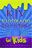 img - for KJV Illustrated Study Bible for Kids, Blue LeatherTouch book / textbook / text book