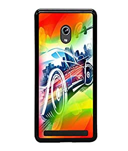 printtech Superfast car Back Case Cover for Asus Zenfone 6 A600CG