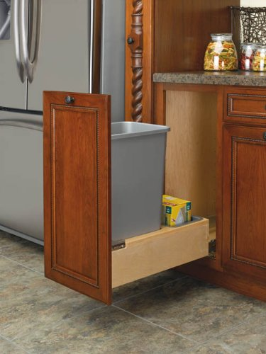 Images for Rev-A-Shelf 4WCBM-1550DM-1 Single 50 quart Waste Container - Wood - Maple-Natural