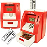 Deluxe ATM Toy Bank w/ ATM Card Red Teach Your Kids to Save and Value Money with This Fun Interactive Bank That Works Just Like a Real Atm! Children Learn About Deposits and Withdrawals and Can Even Set and Reach Savings Goals! The Bank Also Functions As a Calculator, Displays the Date and Time, Serves As an Alarm Clock and Includes a Vip Atm Card!
