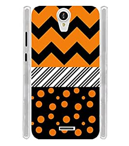 Girl Orange Dot Pattern Soft Silicon Rubberized Back Case Cover for Xolo Q600 Club