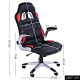 Swivel desk chair executive office chair black ergonomic tilt function leather padded Computer PC gaming chairs adjustable height armchair (III)