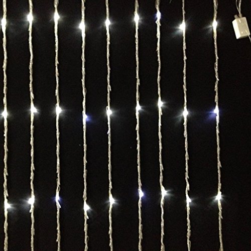Lxcan Water Flow Waterfall 400 Led String Fairy Lights For Xmas Party Decoration 2M*2M (Warm White)