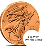 UNCIRCULATED COPPER ZOMBUCKS WALKER .999 FINE COPPER - ZOMBIE APPROVED