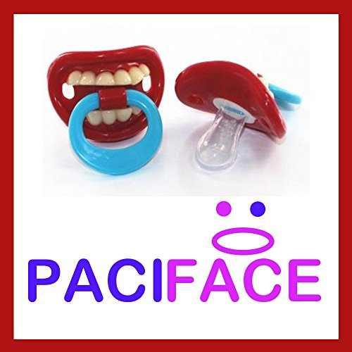 Smiling Teeth Baby Pacifier-BPA Free Pacifier for Baby 0-6 6-12 Months - For Infants, Newborns, Boys and Girls - Funny Novelty Pacifier - Full Money Back Guarantee - 1