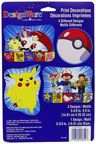 Pokemon 'Pikachu' Cutout Decorations (4ct)
