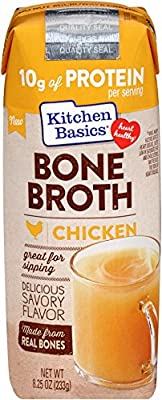 Kitchen Basics Chicken Bone Broth Made with Real Bones, Organic Mirepoix and Herbs, 8.25 Ounce (Pack of 12) by Kitchen Basics