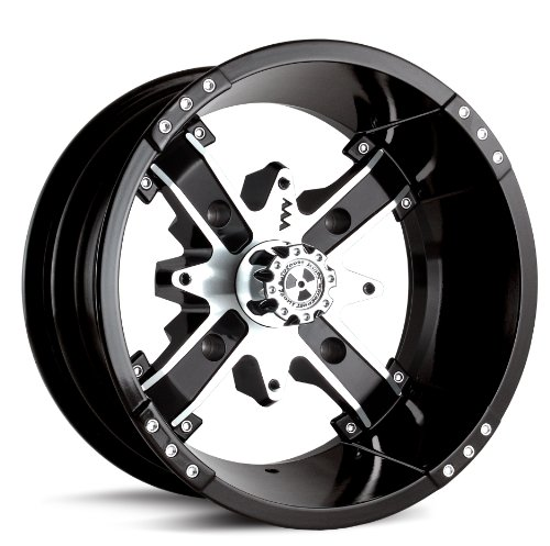 MotoSport Alloys M6 Nuke Black Machined 14x7 