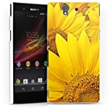 Design Case Cover Shell for Sunflowers Xperia Z (L36H) - HardCase white - Sony
