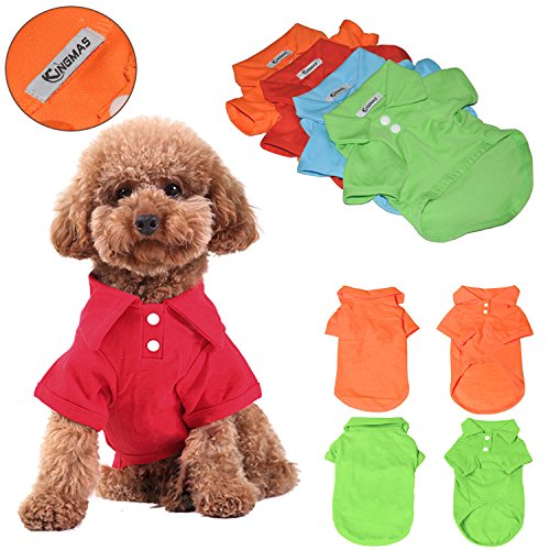 KINGMAS-4Pcs-Pet-Dog-Puppy-Polo-T-Shirt-Clothes-Outfit-Apparel-Coats-Tops