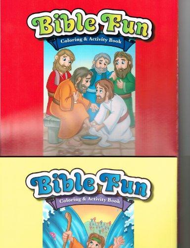 Bible Fun Coloring & Activity Book Set of 2 - 1