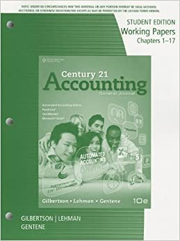 Century 21 Accounting: General Journal, 11th Edition - Cengage