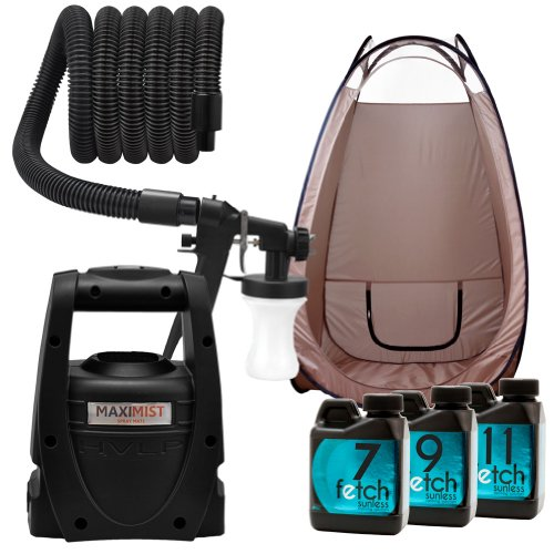 Maxi-Mist Mate Spray Tanning Hvlp Machine Sunless Fetch Dha Brown Tent Kit 2A front-234868
