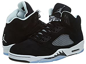 Nike Mens Air Jordan Retro 5 Oreo Basketball Shoes Black/Cool Grey/Black 136027-035 Size 11