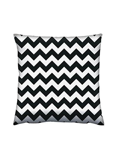 Gravel Chevron Print Throw Pillow, Black/White