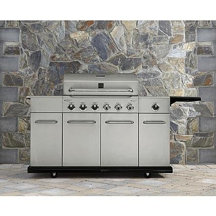 Kenmore 6 Burner Stainless Steel Gas Grill with Front Storage (Kenmore Gas Grill Side Burner compare prices)