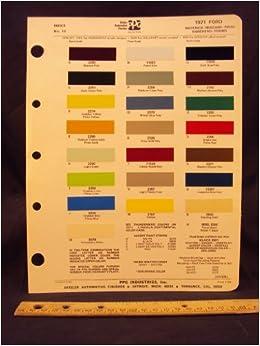 1971 ford maverick mustang pinto ranchero torino for Ford motor paint colors