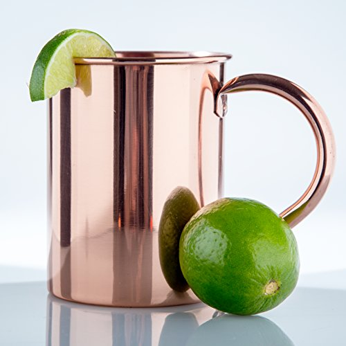 Solid Copper Mug Unlined 18 oz, 100% Pure Copper Moscow Mule Mug - No Inner Lining (True Flavor Ware compare prices)