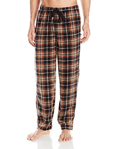 Geoffrey Beene Men's Plaid Micro Sueded Pajama Pant