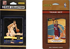 NBA Los Angeles Clippers 2 Different Licensed Trading Card Team Sets by C&I Collectables