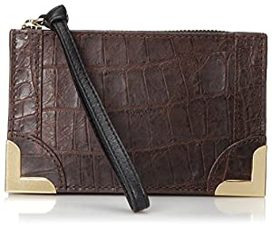 Foley + Corinna Framed Wristlet,Brownie Crocodile,One Size