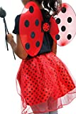 子供用てんとう虫コスチューム3点セットハロウィンパーティ女の子衣装