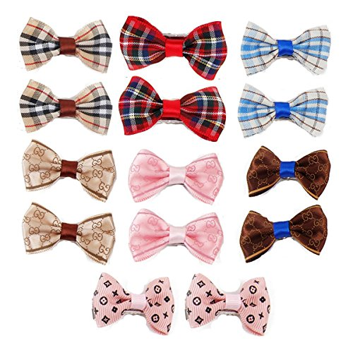 Itplus 14pcs/pack Pet Dog Hair Clips Small Bowknot Grooming Topknot Bows Puppy Cat Hair Accessories (Dog Grooming Clothing compare prices)