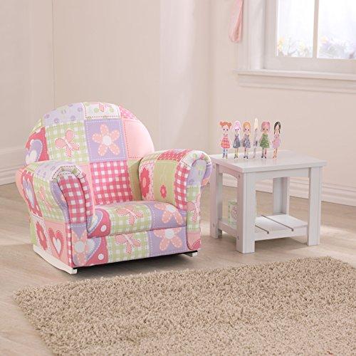 Lovely Toddler Upholstered Rocking Chair   Kidkraft Upholstered Butterfly Pattern Rocker  Chair