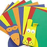 A4 Card Value Pack Kid's Art & Craft Activities Collage - 5 Assorted Colours(220gsm) (Pack of 50)
