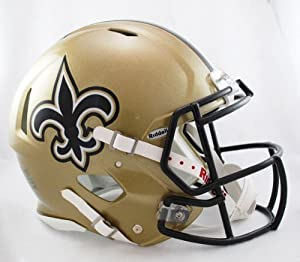 NFL New Orleans Saints Speed Authentic Football Helmet by Riddell