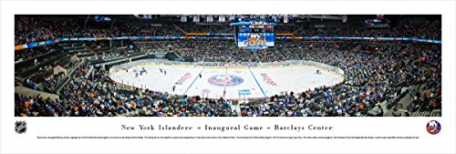 New York Islanders - Inaugrual Game at Barclays Center - Panoramic Print (Barclays Center compare prices)