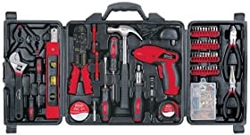 Apollo Household Tool Kit 161-Piece w// Rechargeable Cordless Screwdriver