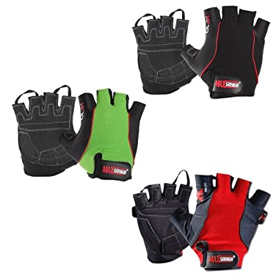 MAXSTRENGTH ® XF10 Pro Gel Padding Weight Lifting Gym Training Body Building Gloves from MAXSTRENGTH ®