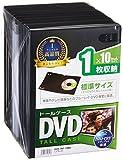 サンワサプライ DVDトールケース 1枚収納×10 ブラック DVD-TN1-10BK ランキングお取り寄せ
