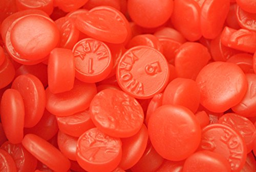 SweetGourmet Candy Ju Ju Coins (Cherry)- Retro Candy (5Lb) (Red Hot Dollars Candy compare prices)