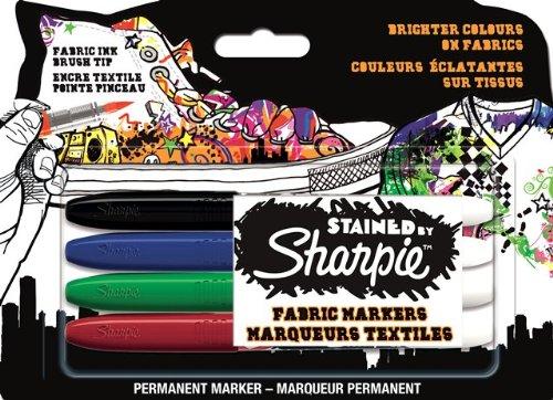 sharpie-juego-de-rotuladores-para-tela-4-unidades-tinta-indeleble-negra-azul-roja-y-verde