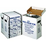 "Nifty Products SPSPKIT 252 Piece Polypropylene Portable Strapping Kit, 3000' Length x 1/2"" Width Coil, Black"