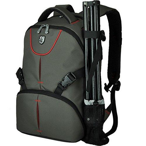 XSY Imperméable Sac à Dos Photographe Reflex Caméra Sac Photo pour Canon Nikon Sony Pentax Armée Vert