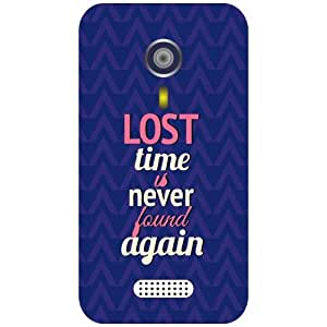Micromax A 116 Phone Cover - Lost Time Matte Finish Phone Cover