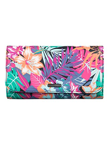 "Roxy, Portafoglio Donna, modello ""My Long Eyes"", Multicolore (Garden Party Wallet True Black), Taglia unica"