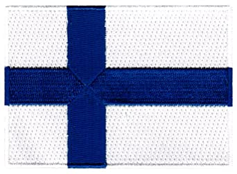 Finland Flag Embroidered Patch Finnish Iron-On National Emblem