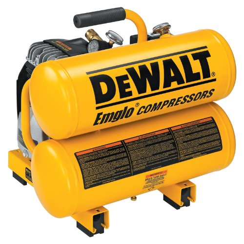 DEWALT D55151  14 Amp 2-1/2-HP 4-Gallon Oiled Twin Hot Dog Compressor