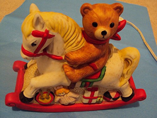 BEAR & ROCKING HORSE NITE LITE - 1