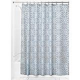 InterDesign Adele Shower Curtain, Gray/Blue