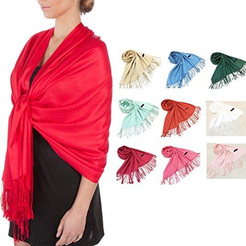 AIYUE-Schale-Silky-Soft-Solid-Pashmina-Schal-Stola-fr-Kleider-Umschlagtuch-Schultertuch-Gesumt-Schals-Gr18070cm-in-10-Farben