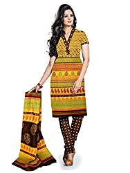 BAPUJI PRINT - WOMEN'S COTTON UNSTITCH DRESS MATERIALS - FULKI-114